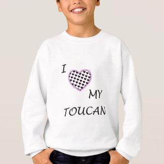 Iハート私のtoucan子供のスエットシャツ スウェットシャツ