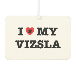 Iハート私のVizsla車の芳香剤 カーエアーフレッシュナー