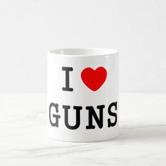 Iハート銃 コーヒーマグカップ