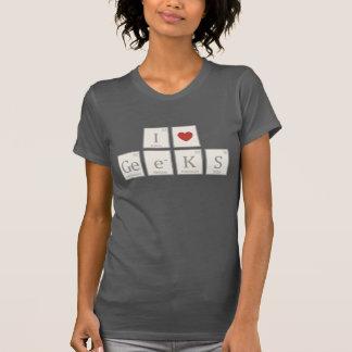 Iハート(化学)のギーク Tシャツ