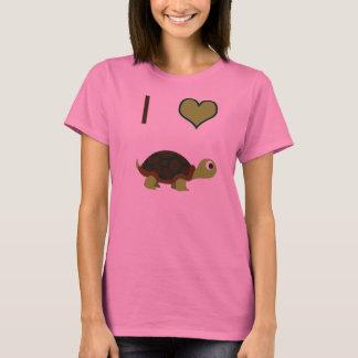 Iハート(愛)のカメ Tシャツ