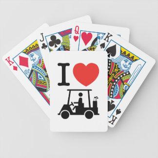 Iハート(愛)のゴルフカート バイスクルトランプ