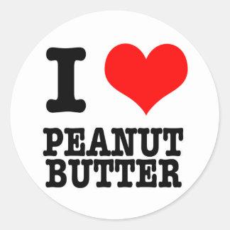 Iハート(愛)のピーナッツバター ラウンドシール