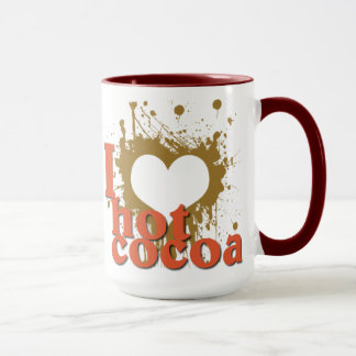 Iハート(愛)の熱いココア マグカップ