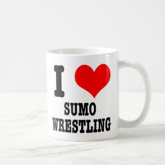 Iハート(愛)の相撲レスリング コーヒーマグカップ