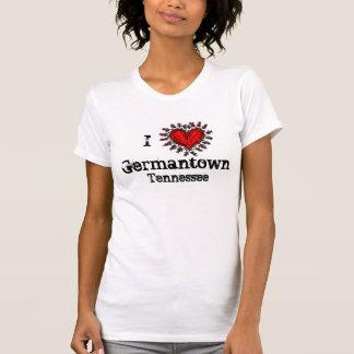 Iハート(愛)のGermantownテネシー州のTシャツ Tシャツ