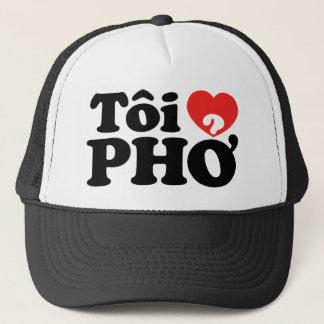 Iハート(愛)のPho (Tôiの❤ PHỞ)のベトナム語の言語 キャップ