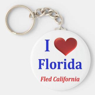 Iハート(愛)フロリダはカリフォルニアを逃げました キーホルダー