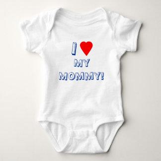 Iハート(愛)私のお母さん! 乳児 ベビーボディスーツ