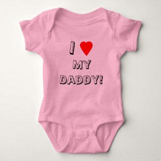 Iハート(愛)私のお父さん! 乳児 ベビーボディスーツ
