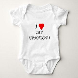 Iハート(愛)私の祖父! 乳児 ベビーボディスーツ