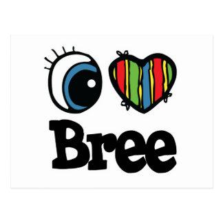 Iハート(愛) Bree ポストカード