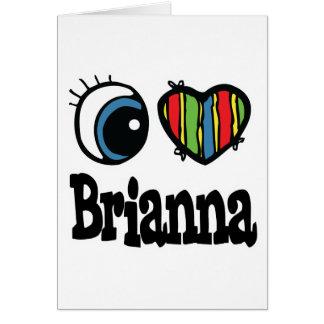 Iハート(愛) Brianna カード