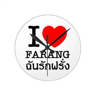 Iハート(愛) Farang ラウンド壁時計