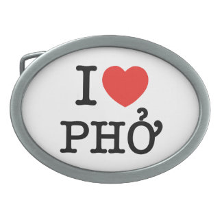 Iハート(愛) Pho 卵形バックル