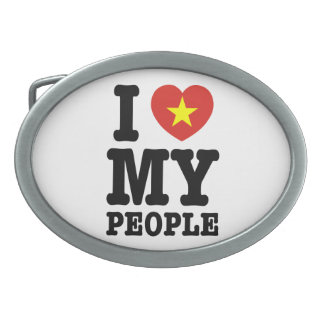 Iハート(愛) Vietの私の人々 卵形バックル