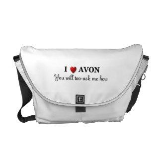 Iハート/愛Avonの、私に尋ねるためにいかに余りに メッセンジャーバッグ
