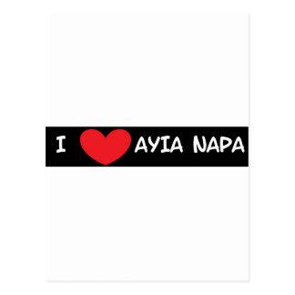 IハートAyia Napa ポストカード