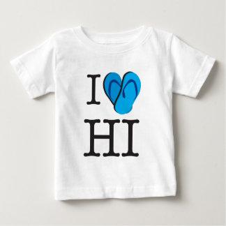 IハートHIハワイのビーチサンダル ベビーTシャツ