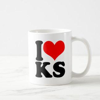 IハートKS コーヒーマグカップ