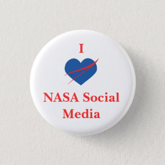 IハートNASA社会的な媒体ボタン 3.2CM 丸型バッジ