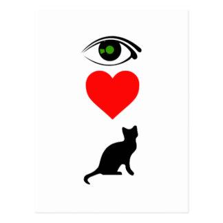 IハートPussy_Cat ポストカード