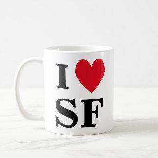 IハートSFのマグ コーヒーマグカップ