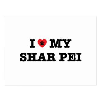IハートShar私のPeiの郵便はがき ポストカード