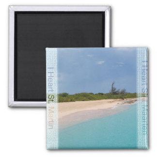 IハートSint Maarten -セントマーチンのビーチ場面 マグネット