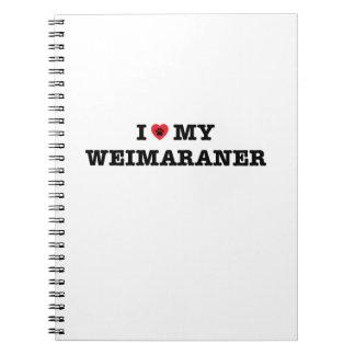 IハートWeimaranerの私のノート ノートブック