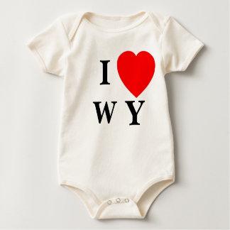 IハートWY -乳児 ベビーボディスーツ