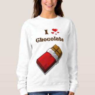 Iバーが付いているハートチョコレート スウェットシャツ