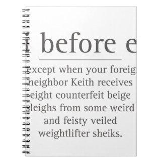 Iパロディのユーモアの先生の引用文の後のを除くEの前に ノートブック
