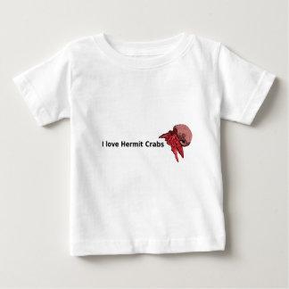 IベビーのビオラのデザインのIoveのヤドカリのTシャツ ベビーTシャツ