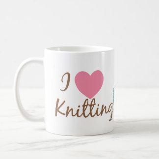 Iマグを編むハート コーヒーマグカップ