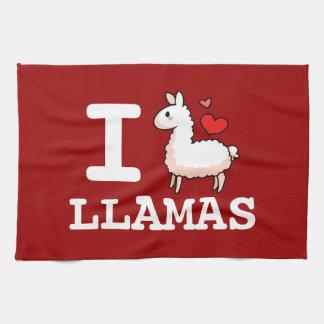 Iラマのラマ キッチンタオル