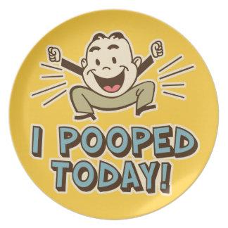 I今日Poopedのおもしろいな洗面所のユーモア プレート