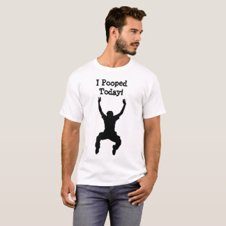 I今日Poopedの人のワイシャツ Tシャツ