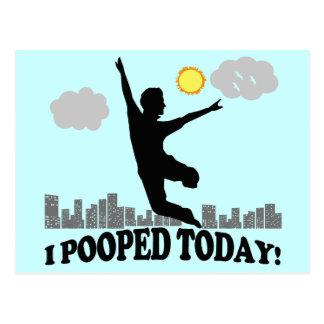I今日Pooped ポストカード