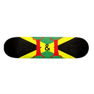 I及びIジャマイカのスケートボード 18.4CM ミニスケートボードデッキ