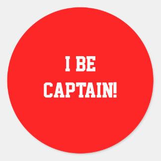 I大尉があって下さい。 赤い ラウンドシール