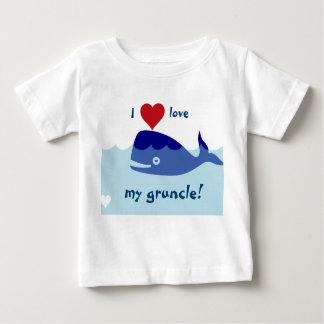 I愛のクジラのデザイン私のgruncle! ベビーTシャツ