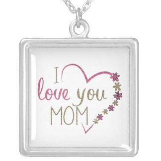 I愛を言います母の日のネックレス シルバープレートネックレス