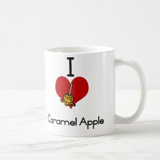 I愛ハートのカラメルりんご コーヒーマグカップ