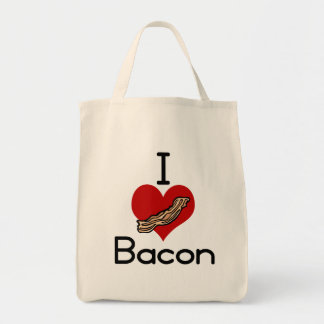 I愛ハートのベーコン トートバッグ