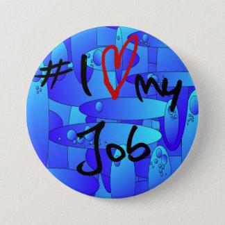 # I愛私の仕事の抽象芸術のアートワークのバッジ 7.6CM 丸型バッジ