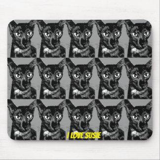 ~ I愛SUSIEの~の黒東洋猫の~ マウスパッド
