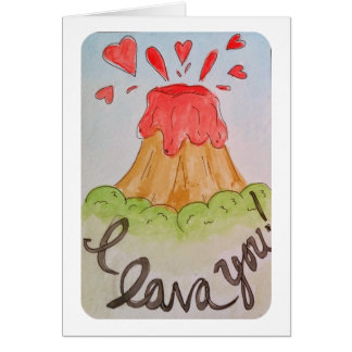 I溶岩I愛水彩画のバレンタイン カード