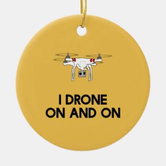 I無人機のどんどんとquadcopter セラミックオーナメント
