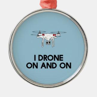 I無人機のどんどんとquadcopter メタルオーナメント